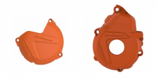 New KTM EXCF 250 350 17-18 Clutch Ignition Cover Combo Protector Orange
